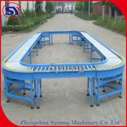 스테인리스 깔판 판지 상자 운반을%s 자동화된 중력 롤러 컨베이어 시스템 또는 컨베이어 테이블
