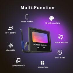 Светодиодная подсветка RGB Прожектор 50W +24 ключ пульта дистанционного управления
