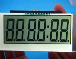 習慣TN Htn 7 7つのセグメントバックライトが付いているモノクロ灰色ガラスLCDの表示パネル