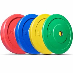 Standardgewicht-Anhebenstellten GummiOlympiv Barbell-Gewicht-Platten ein