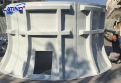 냉각탑 공기 도관 팬 반지 높은 쪽으로 놓이는 직경 9개 피트 Hamd