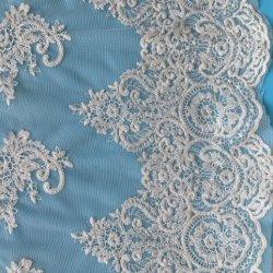 ブロケードの底が付いている100%年の綿の刺繍ファブリック