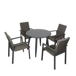 의자 알루미늄 프레임으로 놓이는 고정되는 커피용 탁자 의자를 식사하는 호화스러운 직물