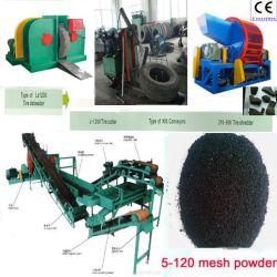 Planta de reciclaje de neumáticos de residuos / reclamar la máquina de goma / máquina de reciclaje de neumáticos usados
