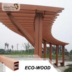 Bon marché chinois étanche extérieure de jardin en bois composite WPC Gazebo