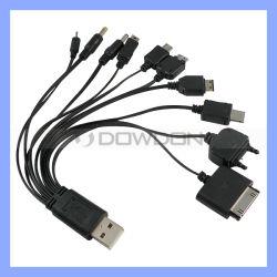 10 in 1 Kabel van de Lader van de Functie van de Schakelaar USB Hoofd Multi voor iPhone Samsung