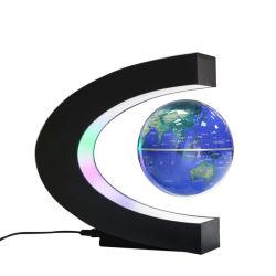 Licht schwarze der Technologie-Magnetschwebetechnik-C-geformte Kugel-LED energiesparende Lampen-sich hin- und herbewegendes Kugel-akustische Schweben-Kugel-sich hin- und herbewegendes Magnet-der Kugel-LED