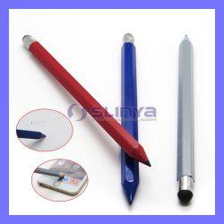 2 в 1 Wood Pencil Smartphone Touch Pen Stylus для PC Tablet мобильного телефона Samsung Android iPhone iPad