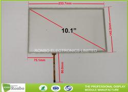 شاشة لمس مقاومة للأسلاك ذات 4 أسلاك مقاس 10.1 بوصة 222.7X125.2 نشطة المنطقة لمدة شاشة LCD مقاس 1024 × 600 بكسل