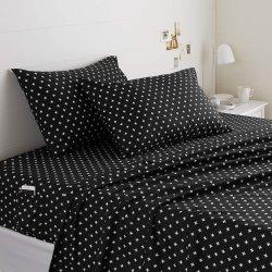 ألياف دقيقة من البوليستر 100% من Unltra soft في Black Plus بنمط مخصص بالجملة غطاء ورقة السرير مع جيوب مرنة للهاتف المحمول