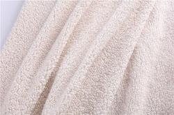 Guata spot de la burbuja de partículas grandes de una cara de cordero Polar Manta de lana y alfombrillas ropa infantil Peluche tejido tela