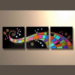 Полноцветный текстурированные современного искусства на стене