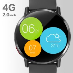 Dm19 IP67 ذاكرة وصول عشوائي بسعة 1 غيغابايت مقاومة للماء 8 ميغابكسل بقوة 900 ميللي أمبير/ساعة، 4 غيغابايت Android Smart Watch مع نظام التشغيل 7.1OS ونظام GPS WiFi BT للبالغين والرعاية الصحية