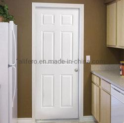 Painel Jingwei 6 Portas interiores Prehung Branco Branco totalmente acabado WPC porta interior de porta