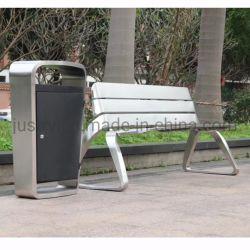 Banc de parc en acier inoxydable de plein air