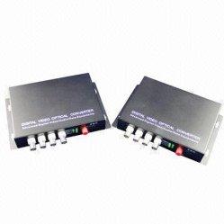 4 チャネルビデオ / データデジタル光コンバータ