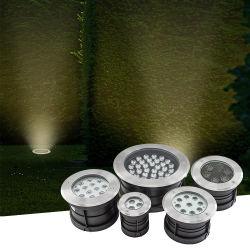12W 18W 24W 36W IP65 для использования вне помещений водонепроницаемый круглый светодиодный палуба сад Inground похоронен под землей лампа RGB