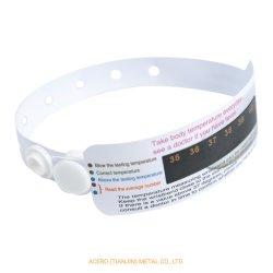 Новые дешевле здоровой окружающей среды орган контроля температуры цвета с указанием браслет безопасной браслет из ПВХ с Buckeles без ртутный термометр браслет