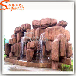Fontana di acqua dell'interno artificiale domestica della parete della roccia del mestiere della decorazione