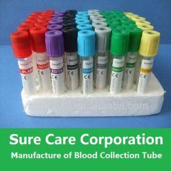 Tube de collecte de sang de vide médical pour le PET ou le verre