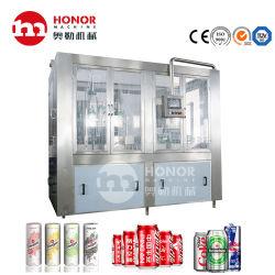 Completamente automática de 250ml/330ml de aluminio de tamaño pequeño de jugo de Pet puede el agua de llenado de bebidas gaseosas etiquetado sellado el lavado de golpe el embalaje/envase que hace la máquina