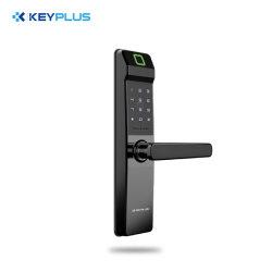 Senha de impressões digitais do bloqueio inteligente chave cartão IC Ttlock Bluetooth Tuya Stand-Alone porta de madeira da Porta de segurança