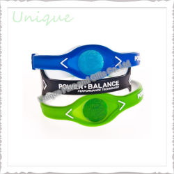 Mode personnalisé de soins de santé réglable Sport l'équilibre énergétique bracelet en silicone de puissance pour cadeau promotionnel