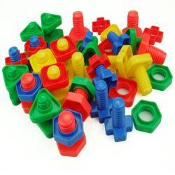 El tornillo de plástico Insertar bloque de creación la tuerca la forma del molde de juguete para niños