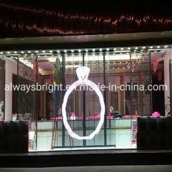 Высокое качество для использования внутри помещений Прозрачный светодиодный дисплей стекло рекламы
