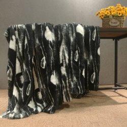 Cheetah tissu Minky d'impression fausse fourrure pour canapé