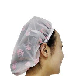 Logo personnalisé populaire élastique EVA colorés bonnets de douche pour dame