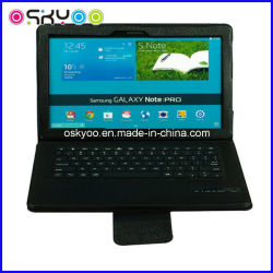 Teclado inalámbrico Bluetooth para Samsung Galaxy Note Tablet Funda de cuero