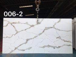 설계한 대리석 지면 도와 석영 돌 남자는 돌 석영 석판을 만들었다