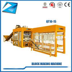 Qt10-15 Cenizas máquina de ladrillos de cemento máquina bloquera