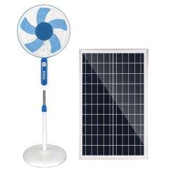 Solar Globalsunrise ventilador Ventilador de pie con 20W de iluminación del panel solar