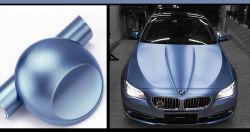 Auto-adhésif bleu métallique mat voiture Wrap film vinyle PVC