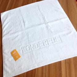 Logo personnalisé de serviettes pour l'hôtel directement par l'usine d'alimentation