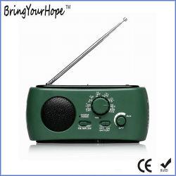 3 LEDトーチFM/Am/Swの太陽手動クランクのダイナモのラジオ(XH-FM-016)