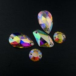 Cristal posterior plana coser en piedra para la decoración de vestidos