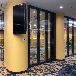 Tabiques de vidrio móviles acústicos para oficina y sala de formación