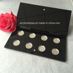 Пустой косметики для макияжа палитры Eyeshadow акрилового волокна черного цвета со съемными алюминиевые поддоны