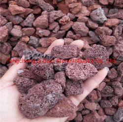 Roca de escoria roja del paisaje de piedra ornamental de jardinería