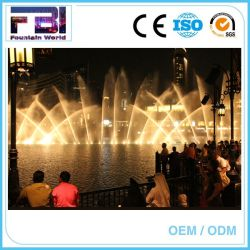 Lago artificial de Giro 2D flotante DMX Digital fuentes de agua