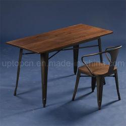 A indústria de mobiliário metálico Cafe cadeira de mesa fixado para a venda (SP-CT676)