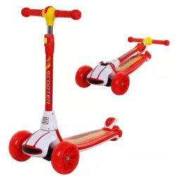 2020 por grosso 3 Grandes rodas de PU leve Empurre Tail Kick Scooter para crianças/Altos Scooter de bebé