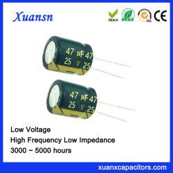Long câble de condensateurs électrolytiques aluminium 47UF 25V