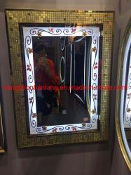 Specchio domestico della stanza da bagno dell'argento LED di vanità della mobilia della decorazione della parete del mosaico