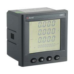 Misuratore di potenza multifunzione trifase Amc72L-E4 LCD Diplay, pannello installato