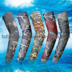 Bras décoratifs Manches de faux Tattoo transparente personnalisé manches de bras