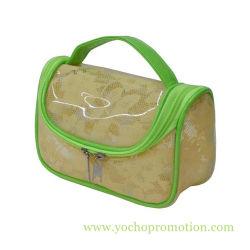 Haute capacité avec un filet en PVC transparent Sac cosmétique pour dame